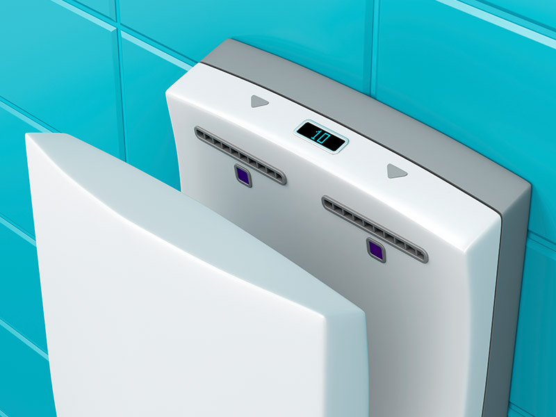 Fancy hand dryers can spread germs around your facility