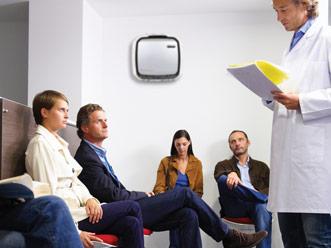 AeraMax Professional w poczekalniach w placówkach służby zdrowia