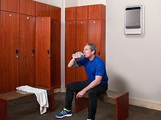AeraMax Pro i träningslokaler och spa