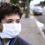 Children suffering from toxic air