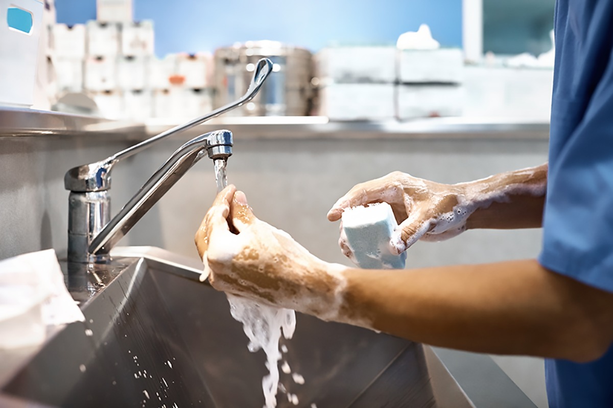 They should frequently wash their hands to remove any germs they might come in contact with on common surfaces, like doorknobs, tabletops and the like.