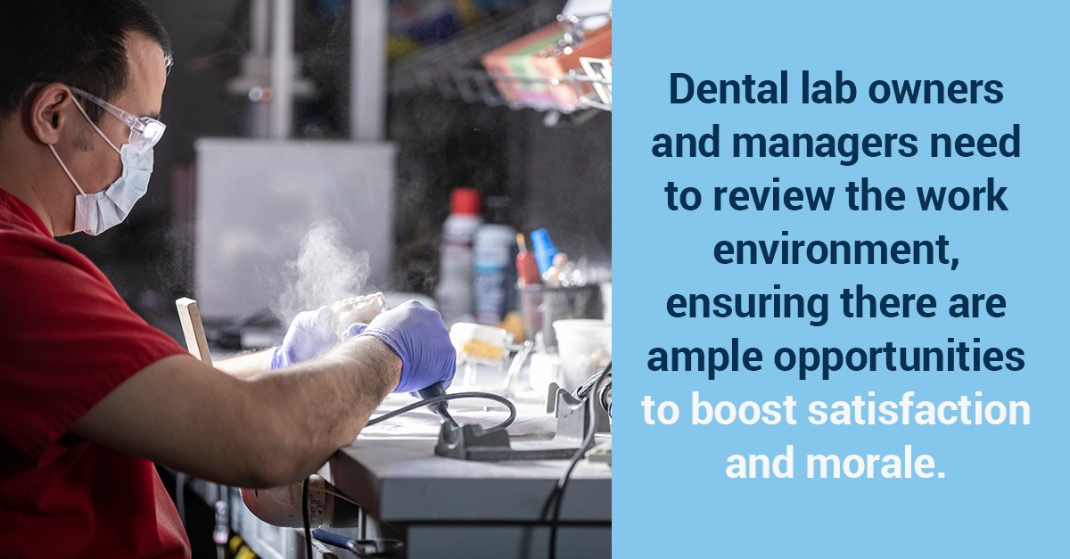Studies show that dental technicians would be happier with their jobs if employers were paying more attention to indoor air quality.
