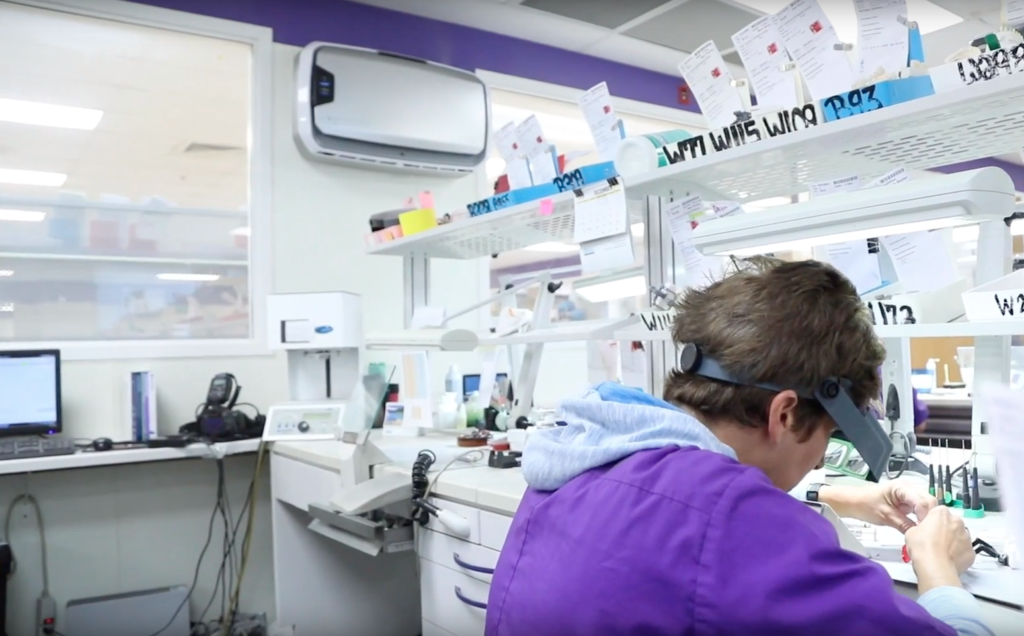 Busy dental laboratories like Drake Precision Dental Lab are hotbeds of find particles creating a real dust problem.